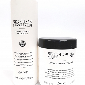 Be Hair Farouk BeColor Szampon Finalizer 1000ml+Maska 1000ml