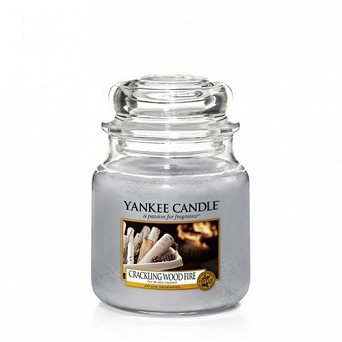 Yankee Candle Small Jar Crackling Wood Fire 104g