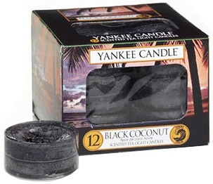Yankee Candle Tea Light 12 pcs Black Coconut