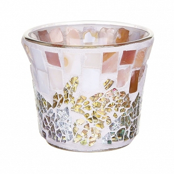 Yankee Candle Gold & Pearl Mosaic Votive Holder